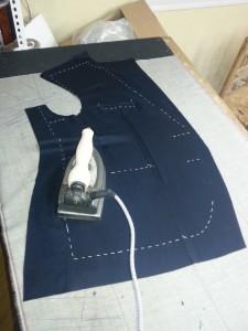como hacer una chaqueta - planchado